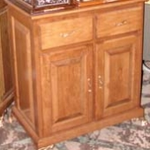 Cherry double-door cabinet