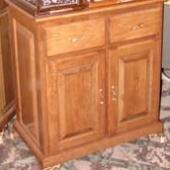 Cherry double-door cabinet