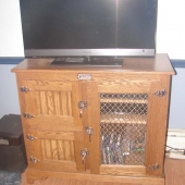 Oak Icebox for TV stand