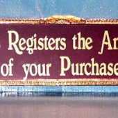 Large Glass Sign - Price: $250.00